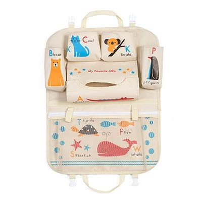 SaveStore Car Cartoon Back Seat Storage Bag Organizer Food Phone Stowing Tidying Accessories Supplies Gear Items Stuff Products by SaveStore