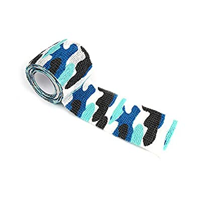 Shellvcase Self-adhesive Non-woven Outdoor Camouflage Multi Use Reusable Fabric Wrap,Rifle Hunting Cycling Tape Waterproof Camo Stealth Tape