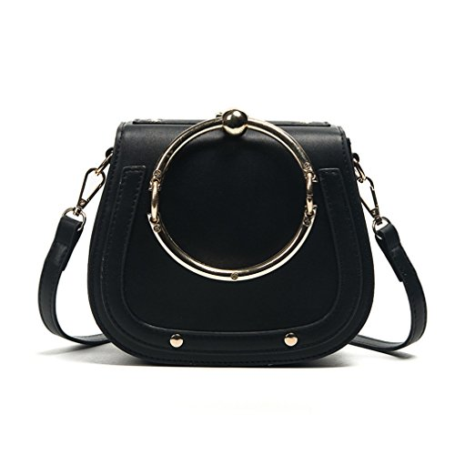 Kaoling Girls Casual Small Bag Small Bag For Women Crossbody Messenger Cloe White 22x8x16cm Black