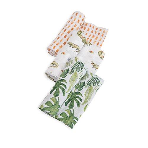 Little Unicorn Cotton Muslin Swaddle Blankets 3 Pack - Gator