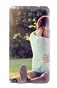 Defender Case For Galaxy Note 3, Girl Kissing Boy In Park Sitting Over His Lap Very Romantic Pic Pattern 4733116K23106509