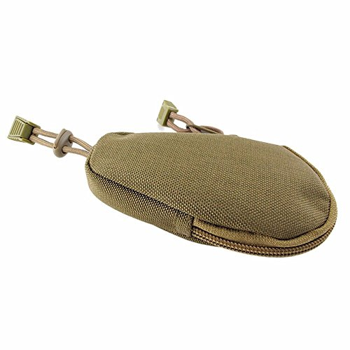 Bunita Army Fans Camping Hiking Keychain Small Bag Tool Commuter Camouflage Tactical Purse Wallet Pouch Gym Bags Container Equipment Klein Tool Pouch  Khaki