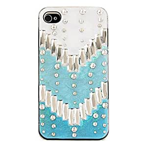 QHY Individuality Back Case for iPhone 4/4S(Assorted Color) , Blue
