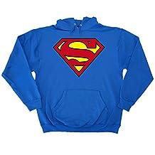 Superman DC Comics Classic Logo Adult Pullover Sweatshirt Hoodie