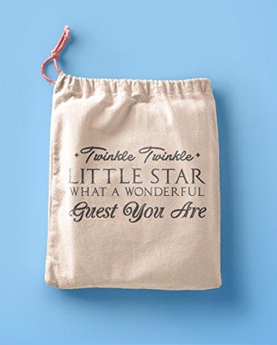 le Star Favor Bags - Party Favor bags - Muslin Cotton Bags - Birthday party Bags - Poem Favor Bags ()