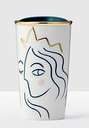 2017 Crowned Siren Anniversary Collection White Double Wall Traveler (Starbucks Travel Coffee Mugs)