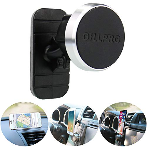 Car Phone Mount Magnetic,OHLPRO Universal Stick On Car Dashboard Phone Holder Mount 360