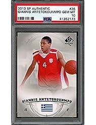 ac318e6c10ff 2013-14 sp authentic  36 GIANNIS ANTETOKOUNMPO bucks rookie card PSA 10  Graded Card