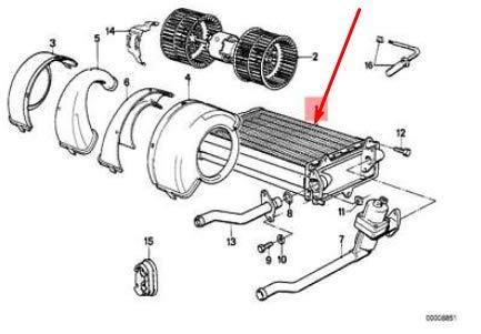 3 series E30 Heater Matrix Core 2.5 Petrol 64118391363 8391363 New Genuine: