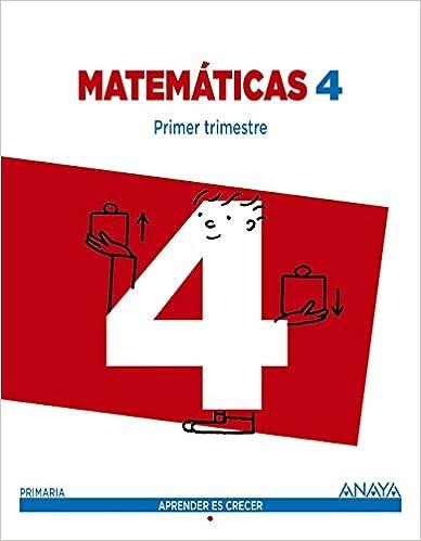 Descargar It Español Torrent Matemáticas 4. Trimestral. Aprender Es Crecer - 9788467877694 Epub O Mobi