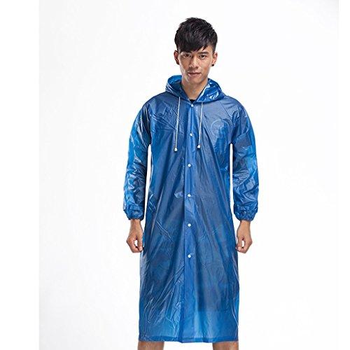 Il Imperméable Hommes Mode Des Bleu Big Transparent Raincoat Veste Poncho Vélo Coupe couleur Hat Et Transparent Y Électriques vent Manches Outdoor Femmes Voitures A xgqg0tYT6