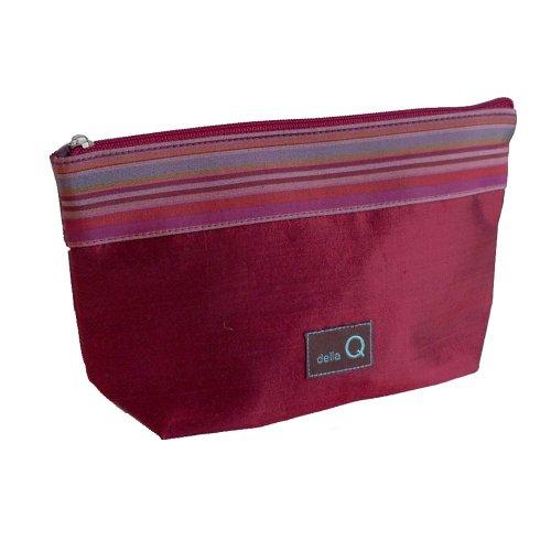 della Q Small Zipper Knitting Case for Notions (7.5'' W x 5'' H x 2.25'' D); 004 Red Stripes 1112-1-004 by della Q