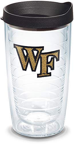 Tervis 1067850 Wake Forest Demon Deacons Logo Tumbler with Emblem and Black Lid 16oz, Clear