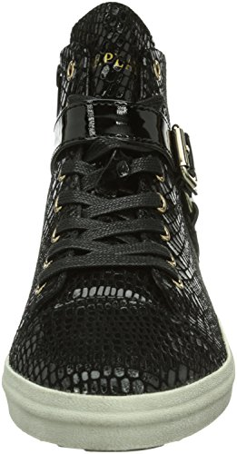 Replay Sneaker Nero 3 schwarz Alta black Coin Donna rOqxwr56P