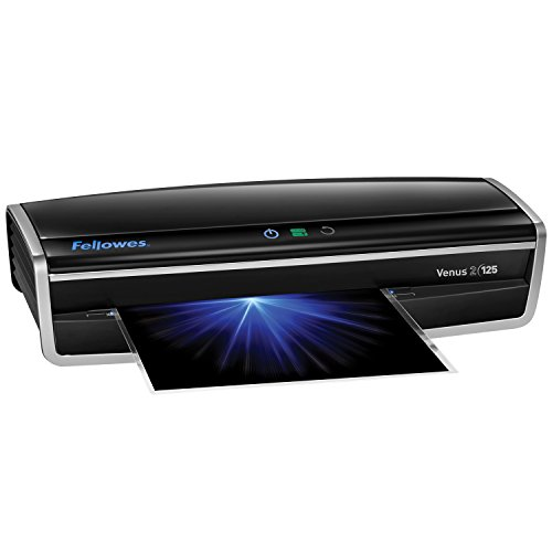 Fellowes Laminator Venus 2 125, Rapid 30-60 Second Warm-up Laminating Machine, with Laminating Pouches Kit (5734801)