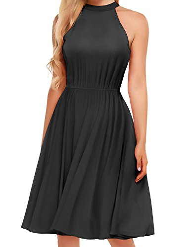 Regna X BOHO for womans summer soft beach black 2xl plus size big Sleeveless Midi Dress