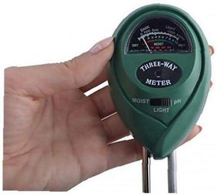 Indoor /& Outdoor Rasen N/ützlich F/ür Garten Licht Und PH Stock Nein Batterie Hohe Genauigkeit Und Easy Read Indicator Kit Von Boden-PH-Meter F/ür Feuchtigkeit 3-In-1 Soil Moisture Meter Tester