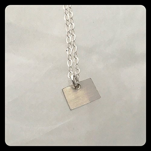 Colorado State Sterling Silver Necklace 18 inches from Allison Eastman Britt