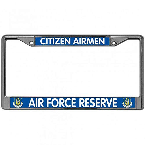 - WangÿCouBing2 Zinc Metal License Plate Frame Waterproof, Mud, Snow Proud USAF Car Licenses Plate Frame Citizen Airmen Air Force Reserve License Plate Metal Cover Standard US Size