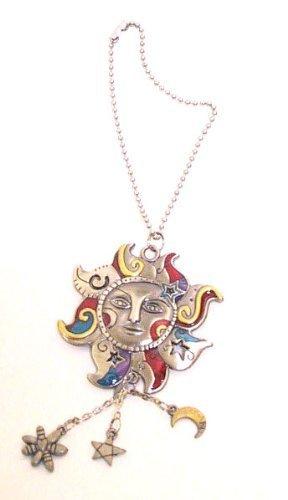 (1 X Celestial Sun Hand-Painted Car Charm Ornament)