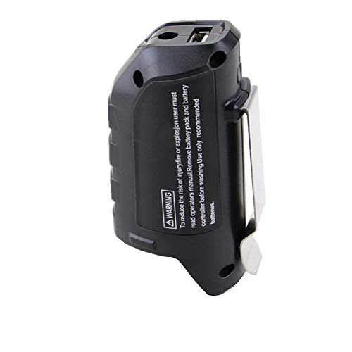 Replacement 12V Battery Holster Backup with USB Port Charge Adapter Conventer Fit for Bosch Heated Jacket BHB120 (NO BATTERY)