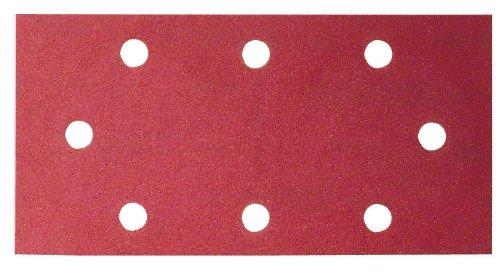 Bosch Home and Garden 2609256B02 10-Piece Sanding Sheet Set for Orbital Sanders 93 x 230 60