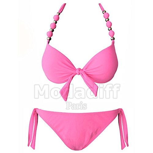 Bikiwi Damen Bikini-Set rosa Rose