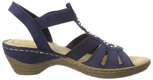 Tozzi Caviglia Cinturino Blu alla con Donna Navy 28504 Sandali Marco BfxndTAqA