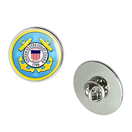 NYC Jewelers ROUND U.S. Coast Guard Seal (us logo vet veteran) Metal 0.75