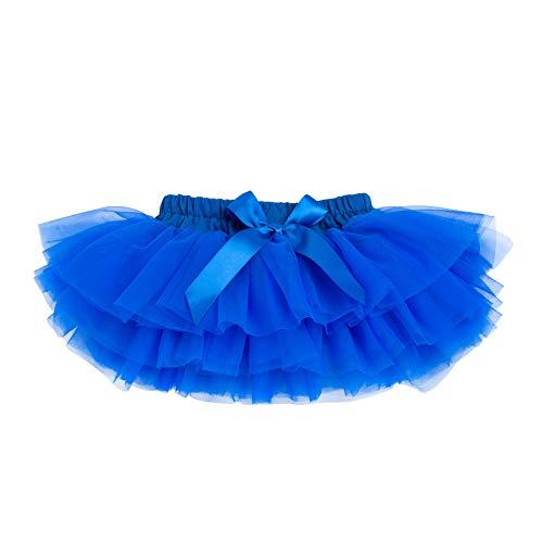 Anbaby Baby Girls Soft Tutu Skirt Toddler Ruffled Pants Diaper Cover Royal Blue 12-24M]()