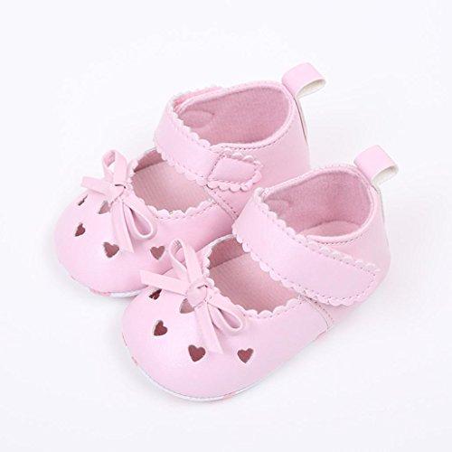 sandalias nina verano baratas Switchali Recién nacido zapatos bebe niña primeros pasos con suela blanda princesa Zapatos bowknot Sandalias de vestir niña playa Zapatillas Rosado