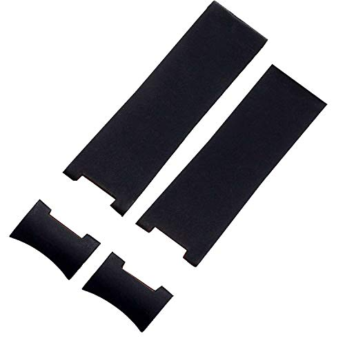 22mm Black Rubber Silicone Watch Strap Band Compatible for sale  Delivered anywhere in Canada