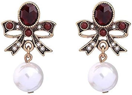 Pendientes de las mujeres Europa y los Estados Unidos joyas populares tendencias de moda accesorios retro aleación joya diamante diamante pendientes