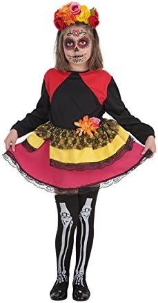 Creaciones Llopis Disfraz de Catrina para niña: Amazon.es ...