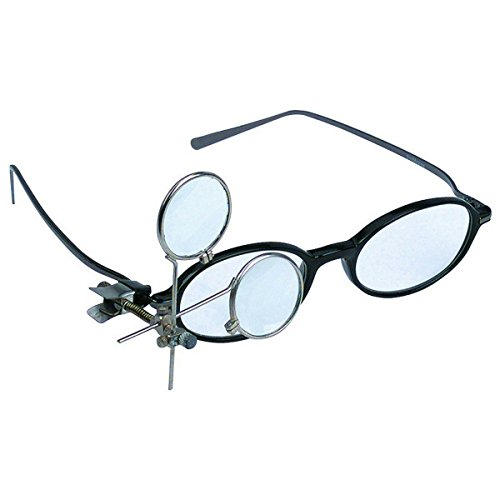 - 16.5X Jeweler's Clip-On Eye Loupe Magnifying Glass 3.3x, 5x Lens Crafts Sewing