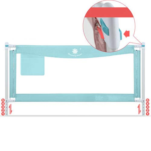 ベッドレールヘム安全ベッドガードレール隠し赤ちゃん粉砕耐性フェンス垂直リフティングコンバーチブルベビーベッドメッシュガードレール (1 パック),Blue1.8M  Blue1.8M B07L6HVW2S