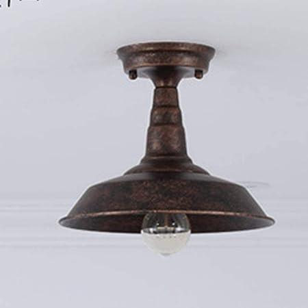 Lámpara de Techo Semi-empotrada Classic American Wind Retro Techo Entrada Exterior de la lámpara de iluminación Industrial Puerta Exterior Pasillo Pasillo Rust: Amazon.es: Hogar