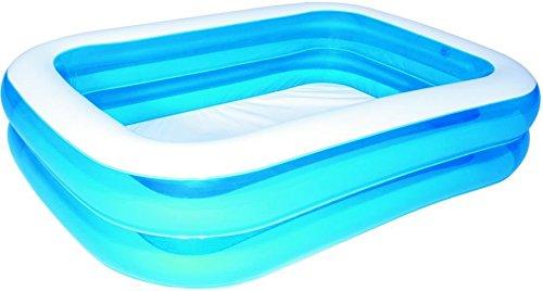 Bestway Family Pool Blue Rectangular Deluxe, 201 x 150 x 51 cm