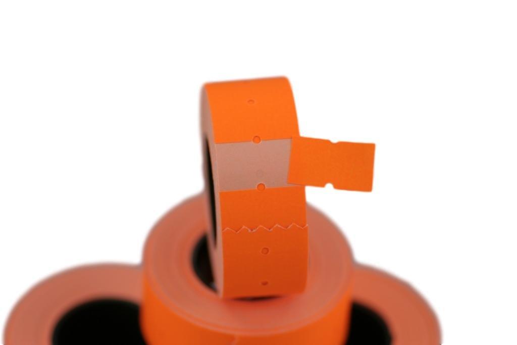 (6 Rolls) Orange 21 x 12 mm Colored Paper Sticker Price Gun Pricemarker Labels MX-5500 AURIKA