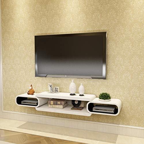 壁掛け セットトップボックス 棚 フローティング テレビユニット キャビネット テレビスタンド DVDビデオ スタンド オープン収納棚付き テレビコンソール