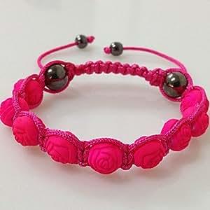 Bheema flor color de rosa pulsera del shamballa