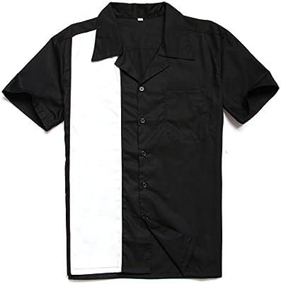 Camisa de Manga Corta de Gran tamaño Floja Blanca y Negra de los Hombres Europeos y Americanos, Negro, S: Amazon.es: Deportes y aire libre