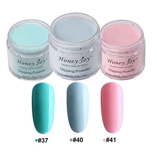 - 3pcs 28g/Box Multi Colorful Dipping Powder Without Lamp Cure Nails Dip Powder Summer Gel Nail Color Powder Natural Dry (37-40-41)
