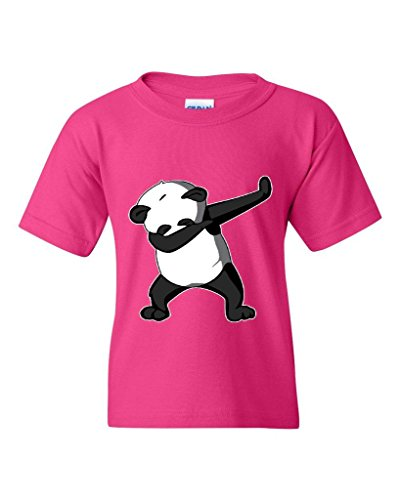 Artix Dancing Panda Birthday Gifts Fashion People Couples Gifts Best Friend Gifts Unisex Youth Kids T-Shirt Tee Clothing Youth Medium Heliconia Pink