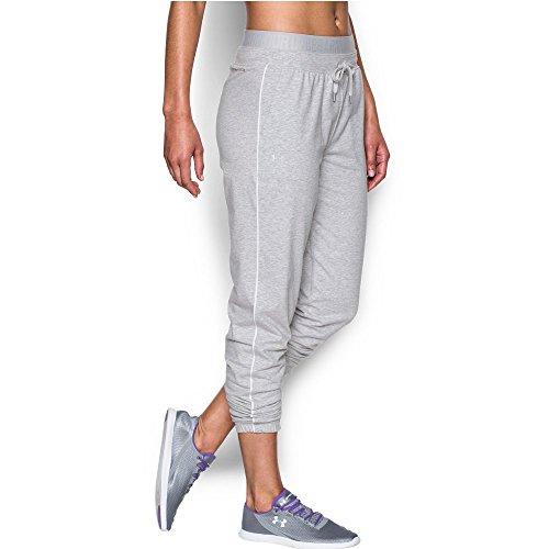 Under Armour Women's Favorite Slim Leg Jogger Pant, Air Force Gray Heath/Metallic Silver, Medium