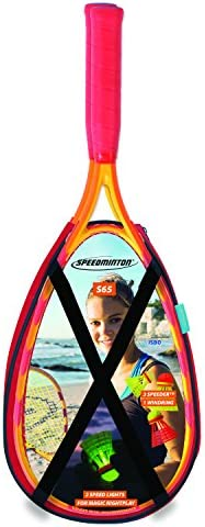 Speedminton® S65 Set – Original Speed Badminton/Crossminton Einsteiger Set inkl. 3 Speeder®, Speedlights, Tasche