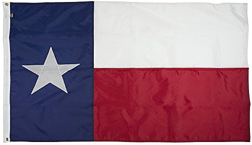 (FlagSource Texas Nylon State Flag, Made in The USA, 3x5')