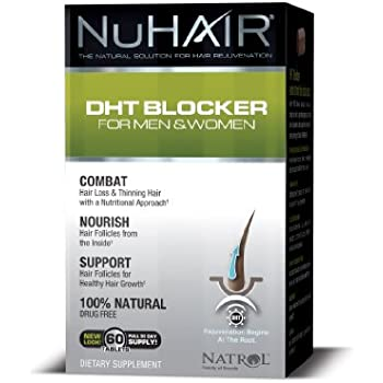Nu Hair DHT Blocker Hair Regrowth Support Formula Tablets, 60 Count Bottle