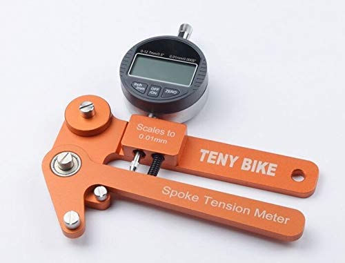 catazer Digital/Mechanical Scale 0.01mm Bike Indicator Attrezi Meter Tensiometer Bicycle Spoke Tension Tester ()