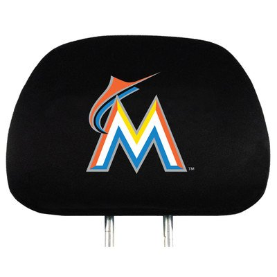 Florida Mlb - MLB Florida Marlins Head Rest Covers, 2-Pack